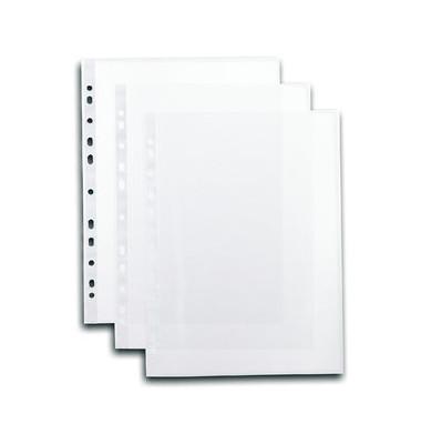 Prospekthüllen A4 transparent genarbt 40my oben offen100 Stück