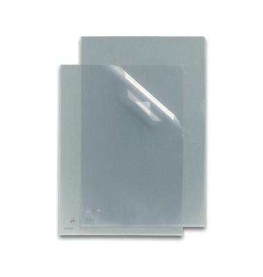 Sichthüllen 7320584, A4, farblos, klar-transparent, genarbt, 0,12mm, oben & rechts offen, PP-Folie