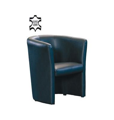 Club Sessel Leder schwarz