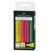 Textmarker Grip Textliner 4er Etui farbig sortiert 1-5mm Keilspitze
