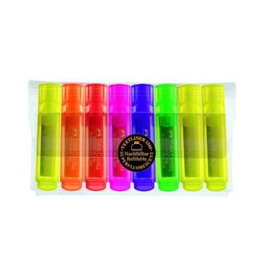 Textmarker 1546 Textliner 8er Etui farbig sortiert 1-5mm Keilspitze