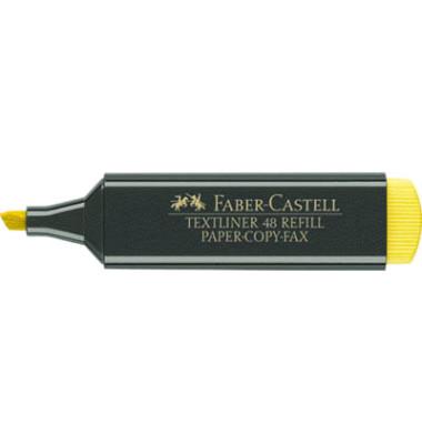 Textmarker Textliner 48 Refill gelb 1-5mm Keilspitze