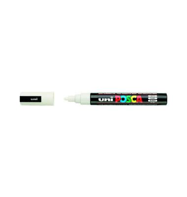 Permanentmarker uniPOSCA PC-5M weiß 2,5mm Rundspitze