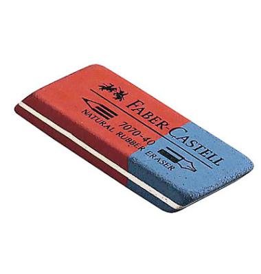 Radiergummi 50 x 18 x 8mm 7070-40 rot/blau