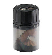 Doppel-Spitzdose 11mm mit Behälter schwarz