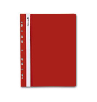 Schnellhefter OfficeToGo A4 rot PVC Kunststoff kaufmännische Heftung mit Abheftlochung