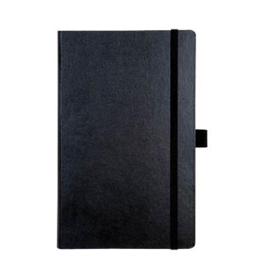 Notizbuch Kompagnon A5 kariert 80g schwarz 12,5x19,5cm 96 Blatt
