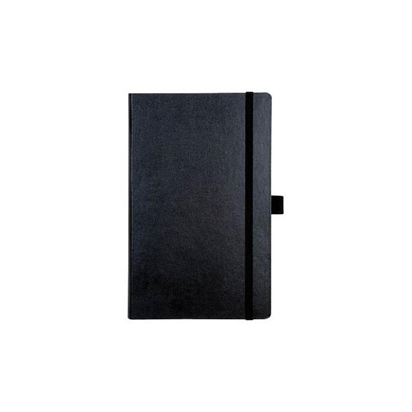 brunnen notizbuch kompagnon a5 kariert 80g schwarz 12 5x19. Black Bedroom Furniture Sets. Home Design Ideas