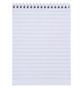 Notizblock A6 weiß liniert 50 Blatt