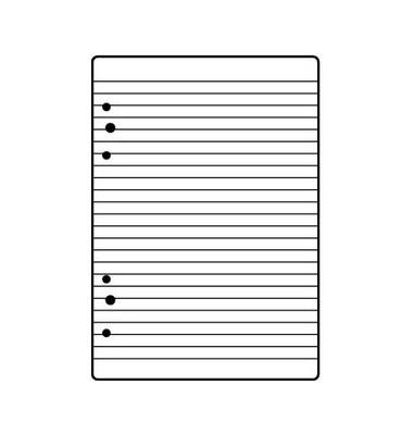 Ringbucheinlagen liniert A5 50 Bl