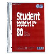 Collegeblock Student A4 kariert perforiert gelocht 80 Blatt