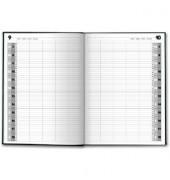 Buchkalender Agenda 24 1Tag/1Seite schwarz 21x29cm 2022
