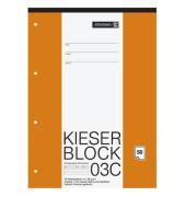 Kieserblock Schreibblock 42923 für Grundschule Lineatur 3 TCF A4 50 Blatt 4-fach-gelocht