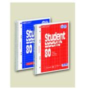 Collegeblock Student A4 kariert perforiert gelocht mit Doppelrand 80 Blatt