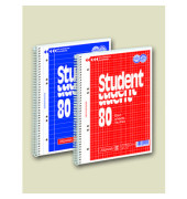 Collegeblock Student A4 weiß kariert gelocht 80 Blatt