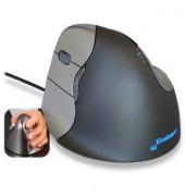 Vertikalmaus Evoluent 4 BNEEVL4, 5 Tasten, mit Kabel, USB-Kabel, Linkshänder, ergonomisch, hohe Auflösung, optisch, schwarz, s