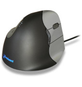 Vertikalmaus Evoluent 4 BNEEVR4, 5 Tasten, mit Kabel, USB-Kabel, Rechtshänder, ergonomisch, hohe Aufl., optisch, schwarz, silbe
