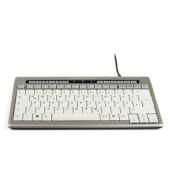 PC-Tastatur S-Board 840 Design, mit Kabel (USB), ergonomisch, silber, weiß