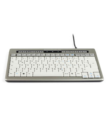Tastatur S board 840 QWERTZ silber 2 USB Deutsche Version