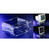 Monitorständer Q-riser 140 Platte 37 x 30cm bis 50kg transparent