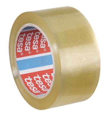 Packband Tesapack 04195-00000-02, 50mm x 66m, PP, leise abrollbar, transparent