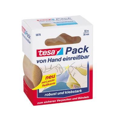 Packband Express 5079 38mm x 33m farblos PVC Handabreißbar
