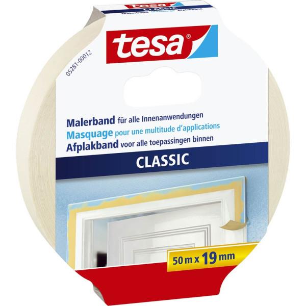 Tesa klebeband 5281 classic 19mm x 50m chamois for Schreibtisch 1m lang