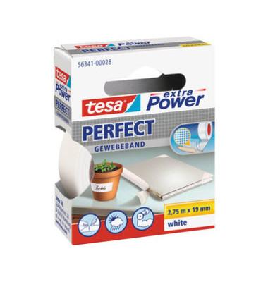 Gewebeband extra Power 56341 19mm x 2,75m weiß