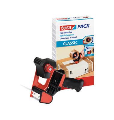 Packbandabroller Classic schwarz / rot für Packband bis 50mm x 66m
