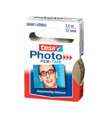 Klebeband 5666 doppelseitig 12mm x 7,5m Photo transparent