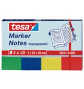 Index Haftstreifen 20 x 50mm transparentmarker 4-farbig sortiert 4 x 40 Blatt