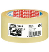 Packband Tesapack Strong 57167-00000-05, 50mm x 66m, PP, leise abrollbar, transparent