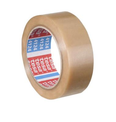 Packband Tesapack Ultra Strong 57174-00000, 38mm x 66m, PVC, leise abrollbar, transparent