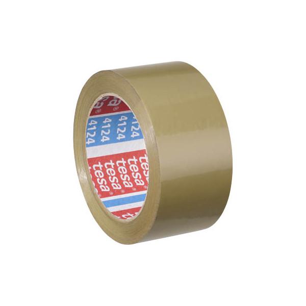 Tesa packband 4124 ultra strong 50mm x 66m braun pvc for Schreibtisch 1m lang