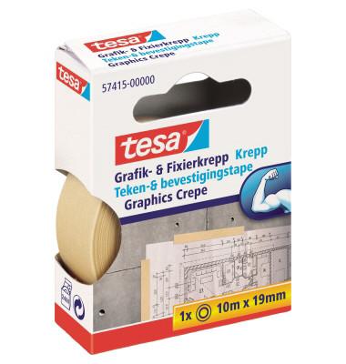 Grafik- und Fixier-Kreppband 57415-00000 19mm x 10m beige ablösbar