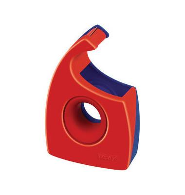 Handabroller Easy Cut bis 19mm x 33m leer rot/blau