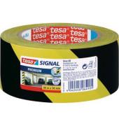 Signalklebeband Tesapack Signal 58130-00-00, 50mm x 66m, PVC, leise abrollbar, gelb/schwarz