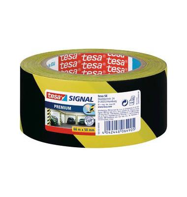 Signalband Premium 5813 66m x 50mm schwarz/gelb PVC