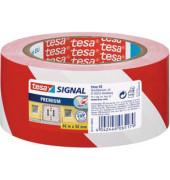 Signalklebeband Tesapack Signal 58131-00-00, 50mm x 66m, PVC, leise abrollbar, rot/weiß