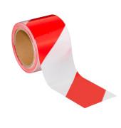 Signalband nicht kleb. rot/weiß 80mmx100m