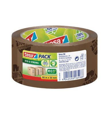 Packband tesapack Eco Strong bedruckt braun 50mm x 66m