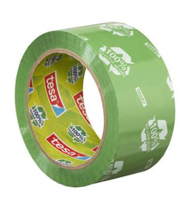 Packband tesapack Eco Strong bedruckt grün 50mm x 66m
