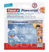 Powerstrips Deco-Haken transparent UV-beständig 5 Stück