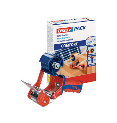 Packbandabroller Tesapack Comfort 06400-00001-03, mit Bremse, für Packband bis 50mm x 66m
