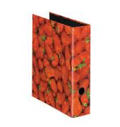 Motivordner maX.file Fruits A4 breit 80mm Erdbeermotiv