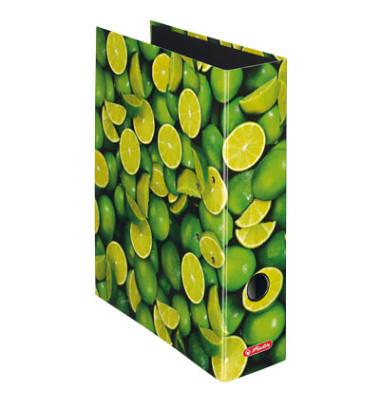 Ordner maX.file Fruits A4 breit 80mm Limonenmotiv