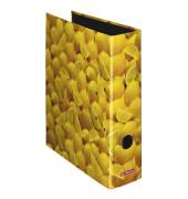 Ordner maX.file Fruits A4 breit 80mm Zitronenmotiv
