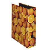 Ordner maX.file Fruits A4 breit 80mm Orangenmotiv