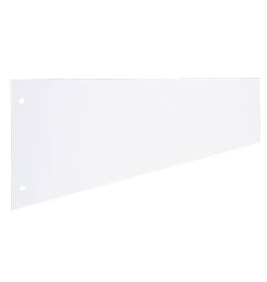 Trennstreifen 1083 Trapez weiß 190g gelocht 230x120mm 100 Blatt