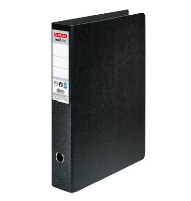 Ordner maX.file A3-hoch 75mm schwarz Hartpappe